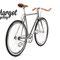 Bici fixie y piñon libre con sillín e cobertura manillar en marrón.