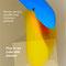 """Marianne Demmer """"Birne im Eiswürfel"""" (2021), digital art, Format bis DIN-A-0, Material: Druck auf Leinen, Acryl, Papier… Auflage 10"""
