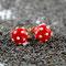 Rot mit weissen Dots, ∅ ca. 6 mm