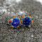 Sternblume in blau/bunt, ∅ ca. 10 mm