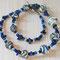 Halskette: Glasperlen, Lapislazuli, Rocailles; Länge ca. 46 cm; 65.-