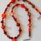 VERKAUFT! Halskette No. 8: Glasperlen, Glasspacer, Silber, Rocailles; Länge ca. 48 cm, 65.-