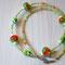 Halskette No. 11: Glasperlen mit Blümchen, Rocailles; Länge ca. 46 cm; 45.-