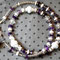 Halskette No. 22: Glasperlen, geätzte Glasspacer, Muscheln, Bergkristall, Amethyst, Rocailles; Länge ca. 48 cm; 25.-
