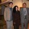 Jose Saldarriaga,  Leyla Alburqueque y el Profesor Jorge Ara Manchego en el Centro Cutural de la PUCP