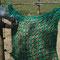 Schließen des 1m breiten Netzes z.B. mit Karabinerhaken
