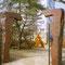 porte en bois de séquoia