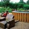 fauteuils en bois de séquoia