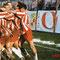 8 Febbraio 2003: dopo il rigore di Caliano i giocatori festeggiano sotto la curva