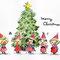 水彩とダーマト(クリスマス)