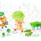 水彩(雨の日)