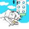 「マイスリー全部ゆめ」 紙、ペン、デジタル彩色 24×24cm 2014(公募用)