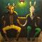 「たぶん夫婦」 キャンバス、アクリル F10号 2015