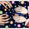 「満天」(冬) 株式会社守屋 ホームページイラスト 紙、アクリル、色鉛筆 2006