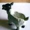 「ヒツジの小物入れ」  陶芸粘土、アクリル  2008