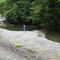 2009年9月29日、川へ降りると管理釣り場のような景色