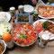 お昼、もの凄い料理!母のお友達SさんとTさんから、わざわざの手作りだ!素晴らしい!大感謝!