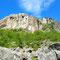 Blick auf das erste Klettergebiet, den Kalkberget.