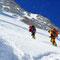 © Christoph Haas / Makalu 2010; Aufstieg in Richtung Felsriegel oberhalb von Lager 2.