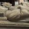 Les gisants des roi Clovis II et Charles Martel