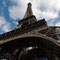 Vue de la Tour Eiffel d'en bas