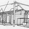 仮設住宅(シャンティ264号) 2012年 ペン、紙