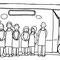 移動図書館車(シャンティ267号) 2012年 ペン、紙