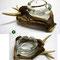 (7) rehstangen mit hirschhorn, schwerer glasascher Fr. 215.–