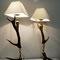 (13) siteboardlampen, hirschhorn-messing, höhe 85 cm. Preis auf Anfrage!