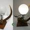 (14) siteboardlampe auf nussbaumsockel, hirschkopf Silber, Privat