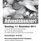 Format: A5, 4-seitig, s/w. Adventskonzertflyer.