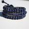 Bracelet cuir Marine et Perles Naturelles Lapis Lazuli