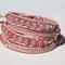 Bracelet Swing Cuir rose pale, Perles Naturelles Quartz Rose et micro rocailles argentées