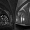 La salle des moines (avec des renforts soutenant les voûtes)