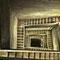 Ce monumental escalier de 20m relie la carrière à un bunker dans la forêt.