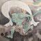 鈴木其一「風神雷神図襖」風神(東京富士美術館所蔵)京都文化博物館2019年撮影許可