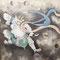 鈴木其一「風神雷神図襖」雷神(東京富士美術館所蔵)2019年京都文化博物館にて撮影許可
