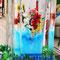 花の氷柱のオブジェ(三宮センター街/2016年)