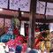 大蛇とたたかう素戔嗚尊(松尾大社節分祭2017年)