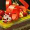 抹茶とフランボアーズのクリスマスケーキ