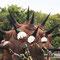 雷神(「パンテオン-神々の饗宴-」より)/ヤノベケンジ氏/2015年 京都府立植物園