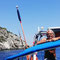 Captain Fabrizio sailing in Paxos Island