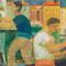 Bateliers à Venise - 1954 - Hst - 60/73 - ©Adagp Paris 2014