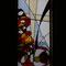 礼拝堂ステンドグラス「注がれる聖霊の炎」