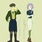 ファンタジー服なさがんくん(まるで茶人)と現代服な鈴羽さん!