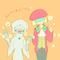 衣装交換③ エレクトとユノさん ユノさんかわいい!似合う!エレクトはゲームの神官みたいって喜んでそう…!