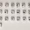 Kunststoff Buchstabenwürfel, 10x10 mm, abgerundete Kanten