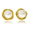 Ohrstecker in Gelbgold mit Perlen aus der Himalaja Kollektion der Goldschmiede OBSESSION Zürich und Wetzikon