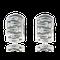 Kreolen in Weissgold mit blaue Brillanten aus der Gremlin Kollektion der Goldschmiede OBSESSION Zürich und Wetzikon