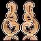Ohrringe in Rotgold mit Brillanten aus der Gipsy Kollektion der Goldschmiede OBSESSION Zürich und Wetzikon